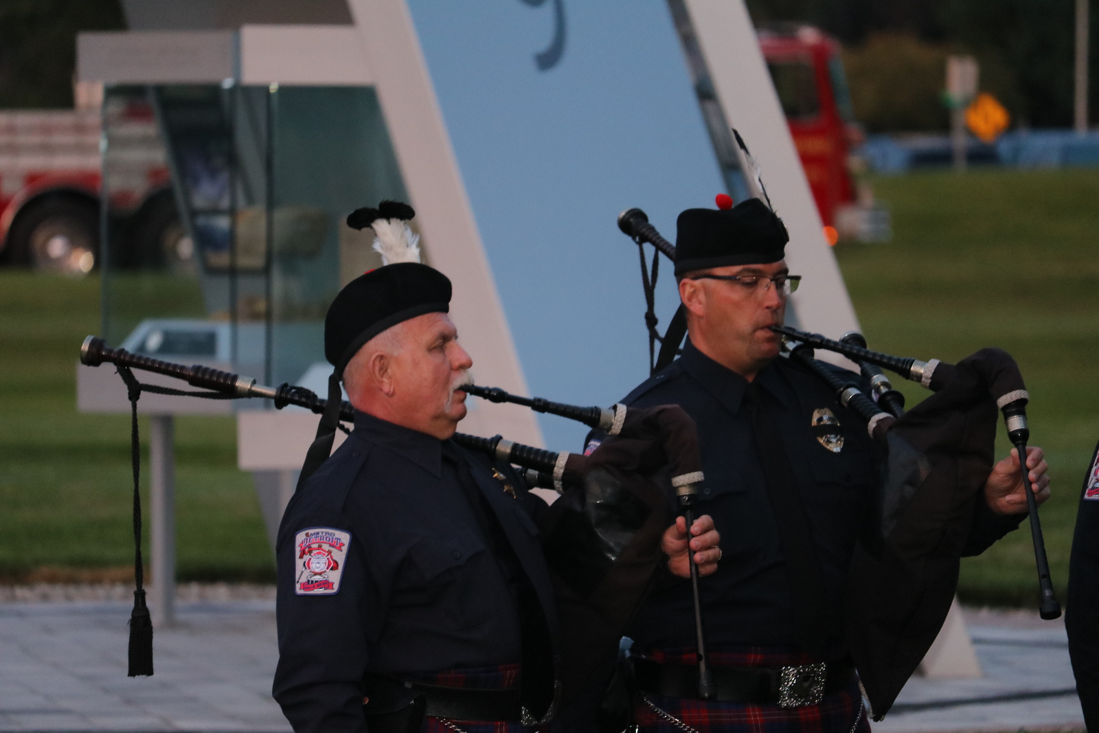 Members of the Metro Detroit Police and Fire Pipes and Drums (Aileen Wingblad/Digital First Media)