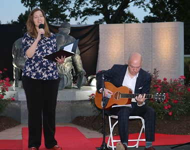 Milena and Michael Thomas perform American Anthem. (Aileen Wingblad/Digital First Media)