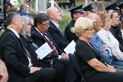 Family members and other supporters of law enforcement officers and firefighters who lost their lives in the line of duty. (Aileen Wingblad/DIgital First Media)