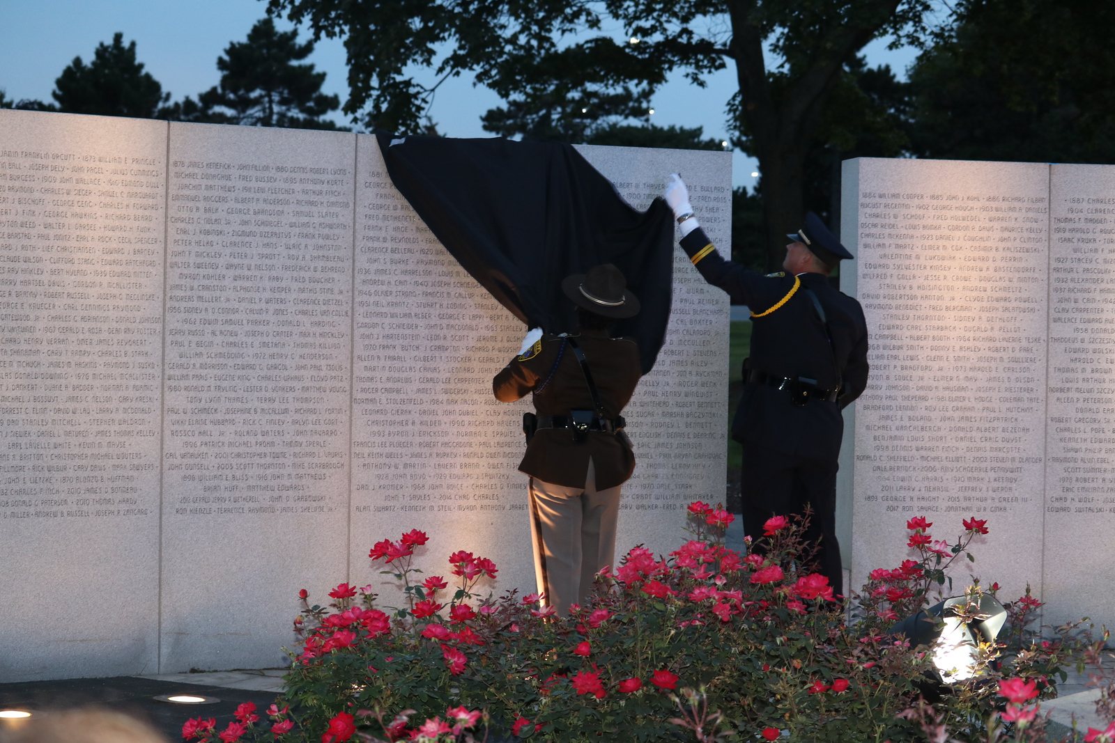 The addition of nine new names to the Lost Heroes Wall is unveiled. (Aileen Wingblad/Digital First Media)