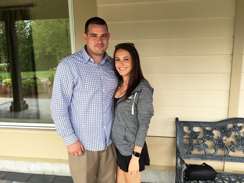 Zack's brother, Nick Gys, and Ashley Hanson of Portland, Maine