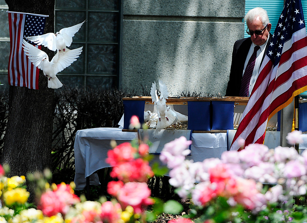 . FAIRFIELD, CA - MAY 16, White doves are released during the 2018 Peace Officers\' Memorial Service on Wednesday in Fairfield. (Chris Riley/Times-Herald)