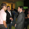Mingling at the reception before the dedication and show.  Matt Thornton, Kevin Cassidy and Joel.