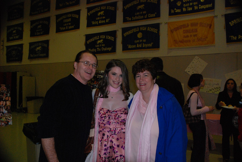 Amber Staska with her parents, Chip and Donna.