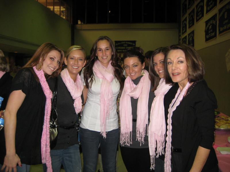Melissa  Zirolli, Melissa Moritz, Mallory Capoferri, Kaitlyn Carullo. Jackie Cahill and Dianne.