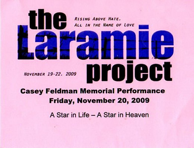 Ticket for the performance.