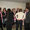 Mingling at the reception before the dedication and show.