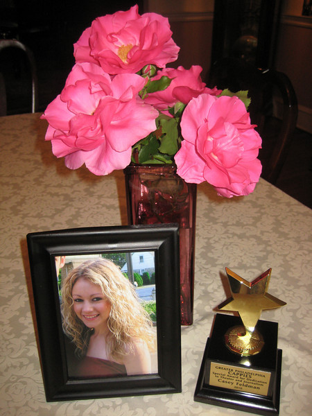 """Casey's Cappie award. It reads : """"Greater Philadelophia CAPPIES - Special Award for Dedication to Theater and Journalism - Casey Feldman - 2010""""<br /> <br /> (You may also run your mouse over the photo to enlarge it)"""