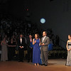 Casey's mom, Dianne Anderson and Joel Feldman, Casey's dad, thanking the Cappies organization.<br /> <br /> L: Michael Pacifico, Cappie nominee from Garnet Valley High School (Grease) and John Gildea