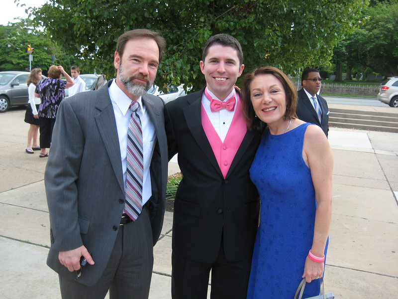 Joel and Dianne with John Gildea.