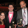 """Marissa Gibson, Cappies nominee for lead actress in a play (Springfield High School, """"The Laramie Project""""), John Gildea, Springfield High School teacher and theater director (who presented Casey's award) and Joel Feldman, Casey's dad."""