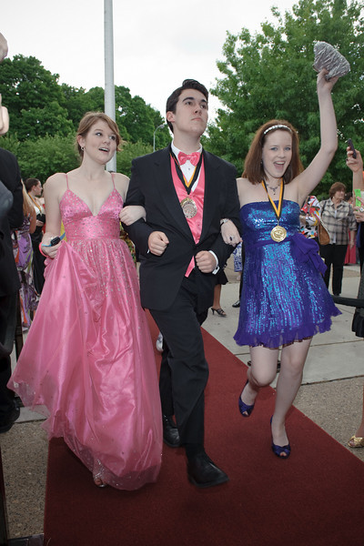 Coming down the red carpet - Elizabeth Gallagher, James Dunzo Cella and  Alyssa Dewan!