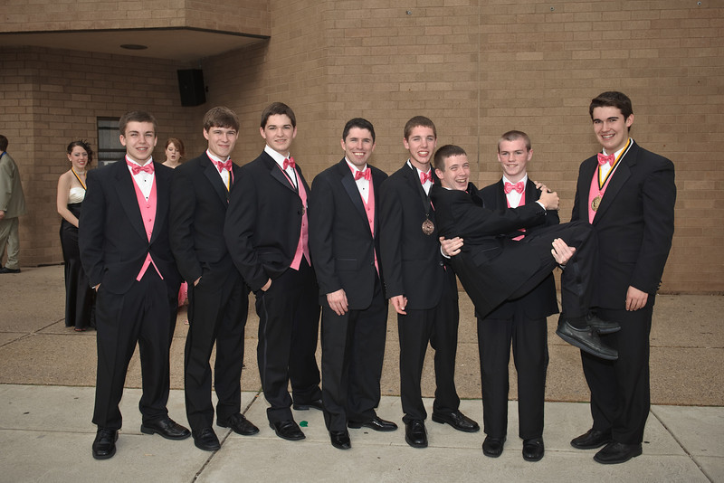 The men of the Laramie Project with John Guildea, teacher and theater director.<br /> <br /> See photo number 1 for names.