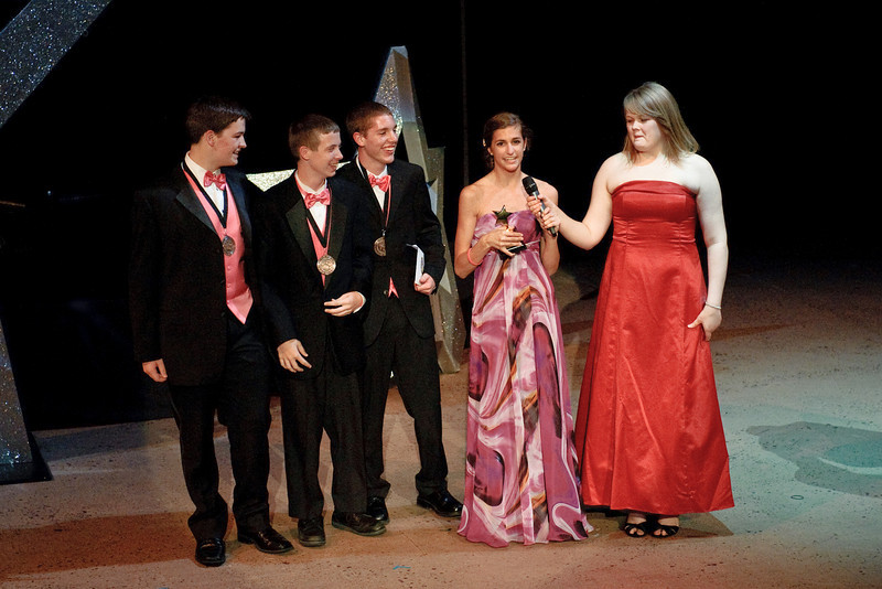 Accepting the Cappie for the best play!