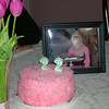 Couldn't find 22 pink candles for Sat. night. Notice the smoke in the photo of Casey blowing out the candles for her 20th birthday.