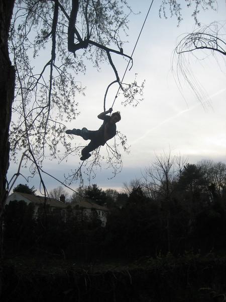 Adam swings!