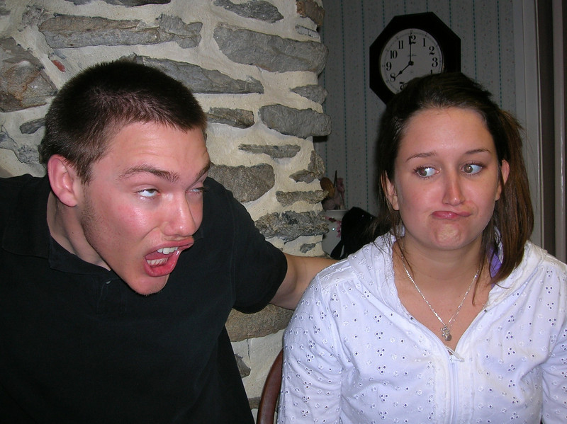 Jamie and Brett decided to ham it up if Aunt Janice was going to continue to take photos.