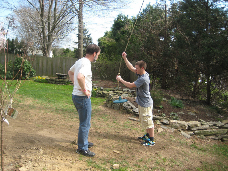 We swung a bit in the backyard before taking Brett back to the airport on Sunday afternoon.