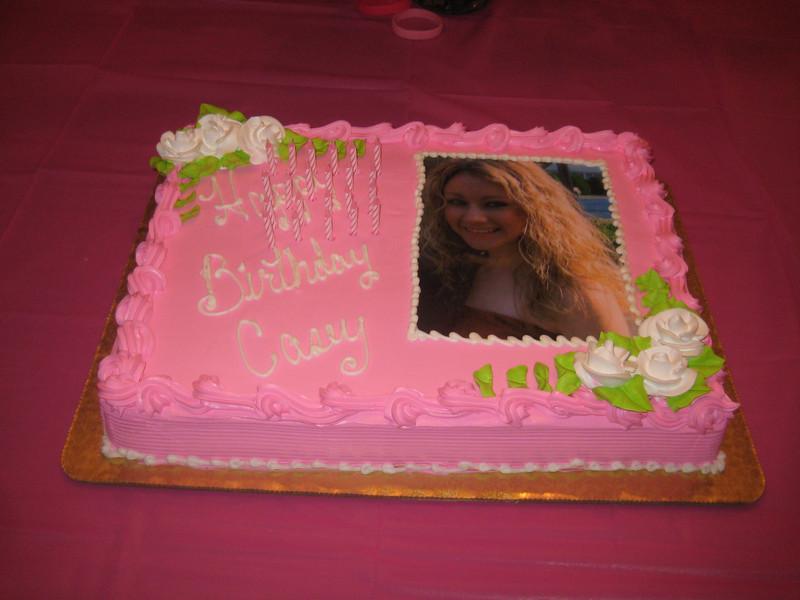 The Casey birthday cake!