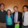 Casey Feldman Foundation Observer scholarship recipients Harry Huggins (L) and Jasper Chang (R) with Joel and Dianne, Casey's parents