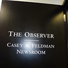 The door to The Observer newsroom.