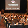 Joel engaging the students at University High School in Baton Rouge during the EndDD presentation.