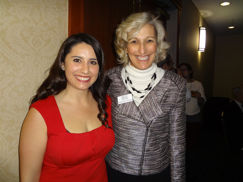 Barbara Jorden (R), Executive Director of the Idaho Trial Lawyers Association and Quinn Perry, Communications Director