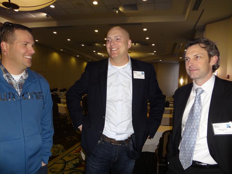 Jarom Whitehead (Center) and Wyatt Johnson (R), after the Idaho Trial Lawyers presentation