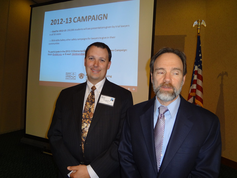 Joel Feldman  and Stuart Blackburn. Joel carried the message about  the EndDD.org distracted driving presentation to Idaho lawyers