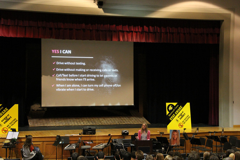 """Read the article: <a href=""""http://www.caseyfeldmanfoundation.org/blog/?p=3594"""">""""Casey's Friend, Brooke Burdge, Shares Her Story with Local NJ Teens in Distracted Driving Presentation"""". </a> Photos credit of Samantha Primich, student at Monmouth Regional High School."""