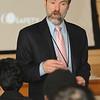 Joel Feldman speaking to the students