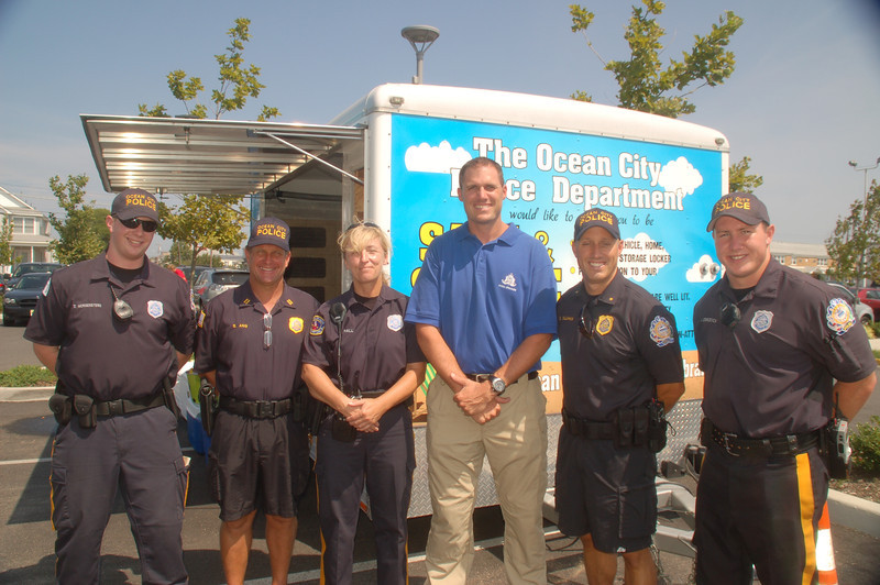 Some of the Ocean City Police Department Traffic Safety Unity officers,