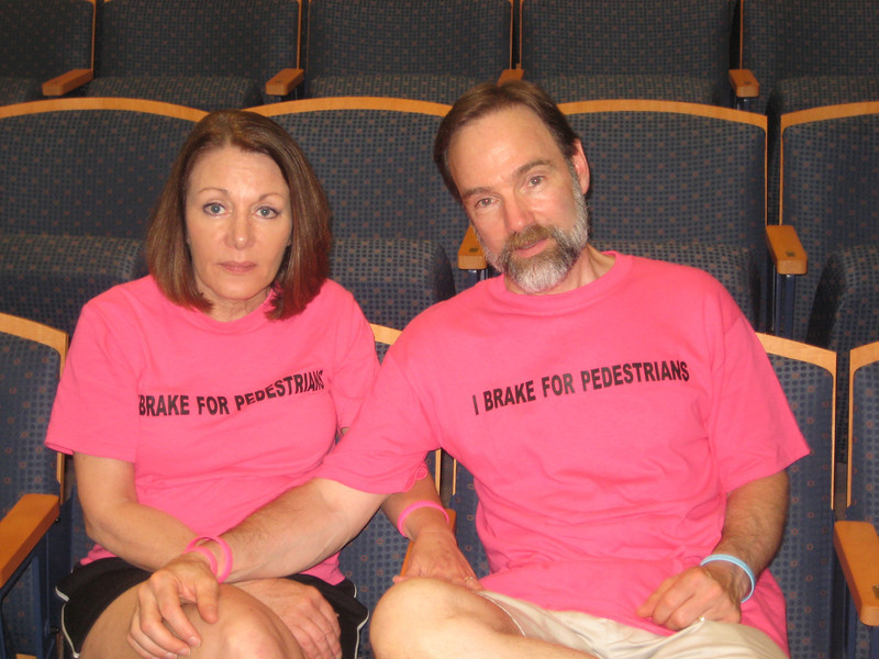 Casey's parents, Dianne Anderson and Joel Feldman looking a bit tired at the end of the day