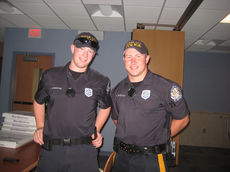 A few of Ocean City's finest  young officers