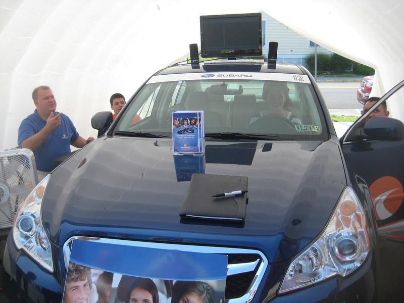 The Subara Drive Square simulated vehicle