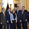 L: Rhode Island Governor Lincoln Chaffee,Rhode Island Association for Justice President, Anthony Leone,Joel Feldman, Dianne Anderson, Speaker of the Rhode Island House of Representatives, Gordon Fox; Senate Judiciary Chair, Michael McCaffery, & RI State Police