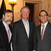 L: Joel Feldman, Rhode Island Governor Lincoln Chafee and Anthony Leone president of Rhode Island Association for Justice