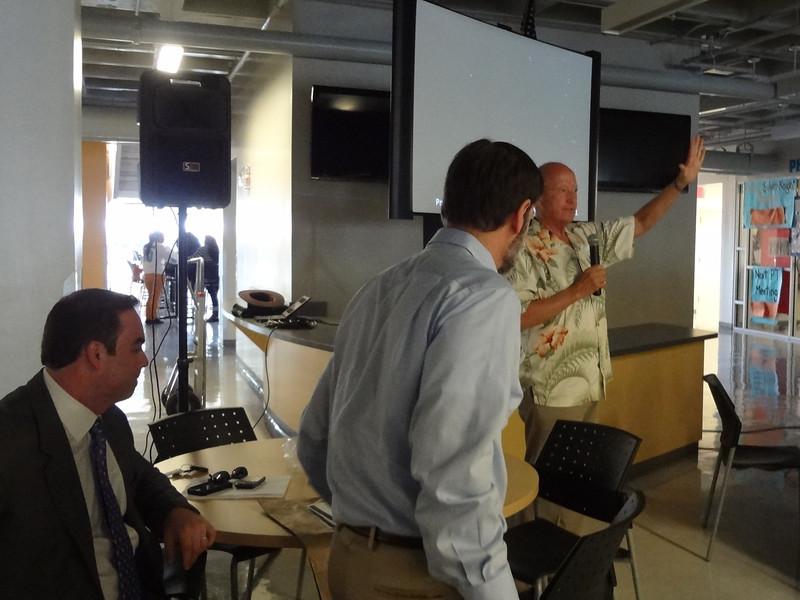 L: Brad Sohn, Esq. (Miami), Joel Feldman, Esq. (Philadelphia) and Wayne Parsons, Esq. (Hawaii) as Wayne speaks to the students