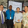 L to R: Brad Sohn, Esq. (Miami), Donald Jackson, Activities Director, MAST Homestead H.S., Joel Feldman, Esq (Phila.) and Wayne Parsons, Esq. (Hawaii) following the EndDD.org distracted driving presentation at MAST Homestead H.S. in FLA