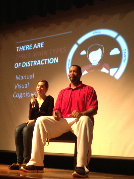 Oakcrest High School distracted driving roleplay