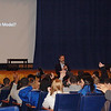 Joel Feldman speaks to students at Oakcrest High School