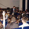 Oakcrest High School - students raise their hands to comment during distracted driving presentation.