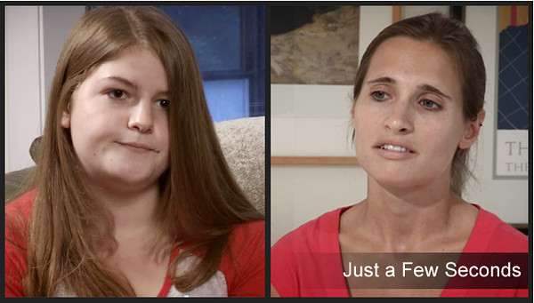 "17 yr old distracted driver, Kate (L) and Emily, daughter of victim, speak in the powerful new video. <a href=""http://www.caseyfeldmanfoundation.org/blog/?p=3546"">Watch the video here. </a>"