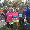 Melissa Farrell (L) before the race with members of the Las Vegas Runners organization.