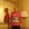 Charles Apprendi before the race. He ran the full marathon. Way to go Charles!
