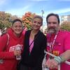 Kristie Gibson (center) congratulating her sister Danielle Gibson and Joel Feldman after the race.