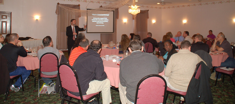 Joel Feldman presenting the EndDD.org distracted driving program at the South Jersey Traffic Safety Alliance conference.