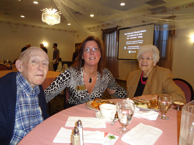 Casey Feldman's grandfather, Martin Anderson (L), Teresa Thomas, South Jersey Traffic Safety Alliance and Casey's Feldman's grandmother, Winnie Anderson