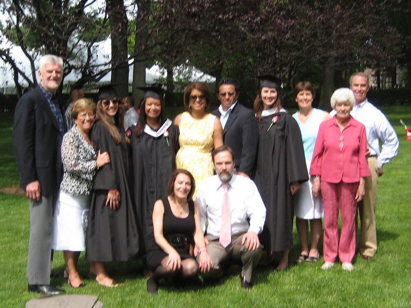 Dianne and Joel with Janine, Kesely and Christina and their families.