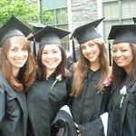 L : Christina, Cassie, Janine and Kelsey - Casey's roomies.